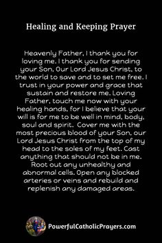 Powerful Catholic prayers that get answered by God. Get all your Catholic prayers, novenas and chaplets today. Healing Prayer Quotes, Prayer For Healing The Sick, Catholic Prayer For Healing, Prayer For Health, Prayer And Fasting, Healing Scriptures, Prayers For Healing, Prayer Scriptures, Catholic Prayers