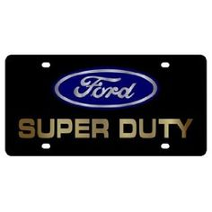 Ford Super Duty License Plate