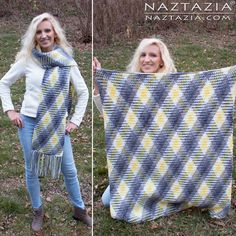 DIY Tutorial Free Pattern and YouTube Video for Crochet Planned Pooling Super Scarf and Afghan Blanket by Donna Wolfe from Naztazia