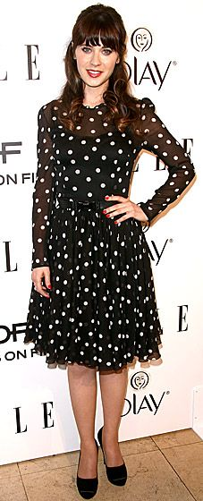 Zooey Deschanel in Dolce & Gabbana at Elle's Annual Women in Television Celebration