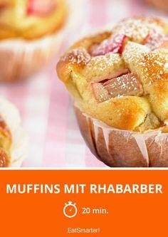 Muffins mit Rhabarber - smarter - Zeit: 20 Min.   eatsmarter.de