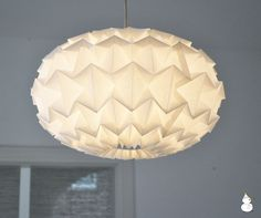 white paper origami lampshade