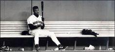 Taking some time to himself. Ken Griffey Jr. Mariners.