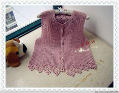 crochelinhasagulhas: Colete rosa em crochê