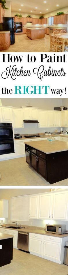 How to paint kitchen cabinets the right way! Best paint for kitchen cabinets. How to get a smooth finish.