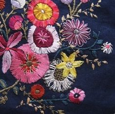 ♒ Enchanting Embroidery ♒ embroidered flowers by Johnson Cheyne