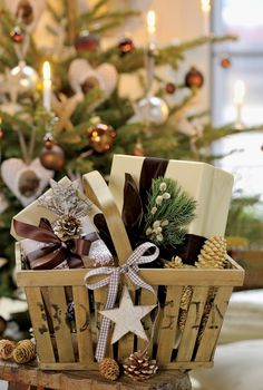 great idea for all those empty baskets i have tucked in nooks amp - Christmas Basket Decorations