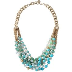 Stella & Dot Maldives Necklace (7.780 RUB) ❤ liked on Polyvore featuring jewelry, necklaces, accessories, colares, stella & dot, twisted bead necklace, golden jewelry, green jewelry, bead chain necklace and twisted chain necklace