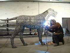 Loaded Dog - Andy Scott sculpture