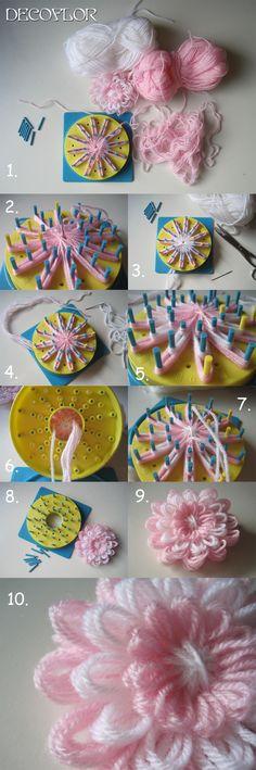 DECOFLOR BLOEM. Apparaatje wat ik vroeger als kind gebruikte om bloemen te maken.