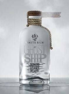 Ghost Ship Rum on Packaging of the World - Creative Package Design Gallery (Liquor Bottle Cabinet) Cool Packaging, Beverage Packaging, Bottle Packaging, Brand Packaging, Packaging Design, Bottle Mockup, Alcohol Bottles, Liquor Bottles, Rum Liquor