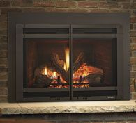 Heat & Glo Escape FireBrick Inserts Escape FireBrick inserts offer high-efficiency heating and impressive flames. Exclusive FireBrick® material provides authentic masonry appearances and bolstered heat outputs. Match your mood with a full function remote and designer finishing options.