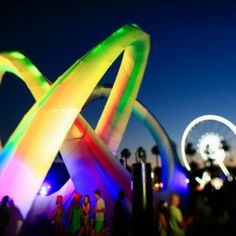 #Coachella after dark. Everyone and everything looks better in a neon glow.