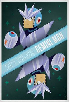Gemini Man from the Mega Man series. My husband's favorite video game series...he's beaten most of them.