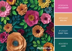 101 Color Combinations to Inspire Your Next Design – Floral Fun Digital Crafts Color Palette