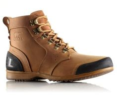 SOREL MEN'S ANKENY™ MID BOOT | Full-grain waterproof leather upper, removable molded EVA footbed, and rugged vulcanized rubber outsole promise ultimate comfort and support in this outdoors-inspired boot.