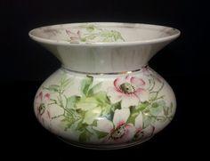 Vintage Mercer Semi Vitreous Floral Porcelain Vase #SemiVitreous