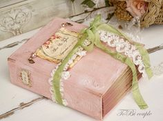 Wedding Guest BookSage Blush Gold Photo album Shabby by ToBicouple