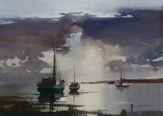 "Ebb Tide, Claude Buckle. Amazing sky, use of ""blooms"""