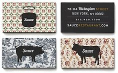 More Sauce Restaurant identity via Communication Arts - designed by Meter Industries