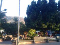 Una pequeña parte del Parque Central de Guastatoya, El Progreso.