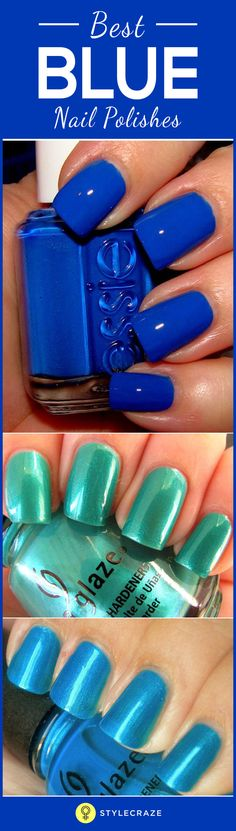 Bright colours always seem challenging to wear but summer is the perfect time to bring out polishes that you might normally shy away from. Blues are one of them. What more to refresh you and remind you of the beach during summers than a nice coat of bright blue polish on your digits. Blue polish can be carried off by anyone provided you choose the right shade. Ranging from light powdery blues to bold neon ones, there are numerous variations available.