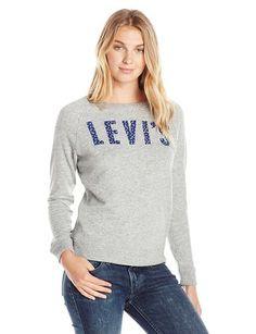 Levi Crew clásico de las mujeres la camiseta, Levis Chimenea Heather (60%…