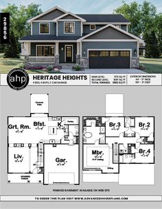 Discover recipes, home ideas, style inspiration and other ideas to try. House Plans 2 Story, Sims House Plans, Basement House Plans, Family House Plans, Cottage House Plans, Country House Plans, Dream House Plans, Modern House Plans, House Floor Plans