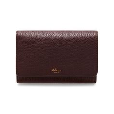 Medium Continental French Purse | Oxblood Natural Grain Leather | Women | Mulberry