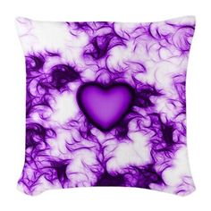 Heart Of Purple With Swirls Burlap Throw Pillow Heart Of Purple With Swirls Flamin Graphic Designs