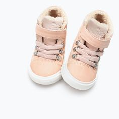 LINED HIGH-TOP SNEAKERS from Zara