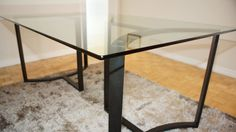 Glass top dining table  | eBay