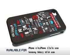 One Direction Quote Absolutely Love - for iPhone 4/4S,5 case iphone 4/4s/5 Case Hard Plastic Cover