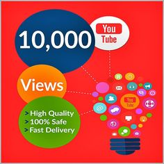 Buy 10,000 YouTube Views for your YouTube Video.Worldwide Views.Delivery Time 24 – 48 Hours.