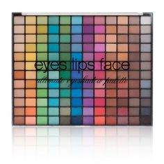 Makeup and Cosmetics   Shop Eyes Lips Face. e.l.f. Studio 144-Piece Ultimate Eyeshadow Palette. Needs to be used with a primer. $15