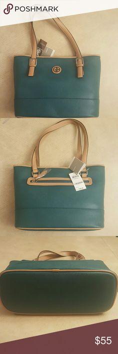 NWT Giani Bernini Saffiano Tote NWT Giani Bernini Saffiano Tote. Deep green new never been used has original tags. Giani Bernini Bags Totes
