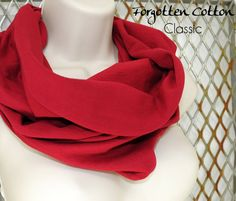 Shoply.com -Infinity Scarf Brick Red. Only $20.00