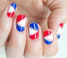Fourth of july nails green nails, blue nails, glitter nails, holida Get Nails, Hair And Nails, French Nails, Nautical Nail Art, Patriotic Nails, 4th Of July Nails, July 4th, Nail Art Blog, Manicure Y Pedicure