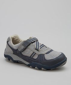 Take a look at this Gray & Navy Payton Sneaker by Stride Rite on #zulily today!