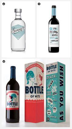 pretty package / wine bottles