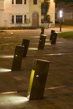 Plaza Victor J. Cuesta Reminds us of the Importance of Public Space Urban Furniture, Street Furniture, Bollard Lighting, Outdoor Lighting, Landscape Lighting Design, Landscape Architecture, Classical Architecture, Ancient Architecture, Sustainable Architecture