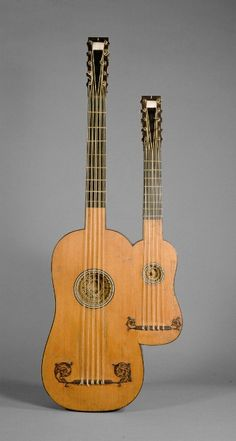 "instrumental-artistry: "" Guitar, ca. 1690 Alexandre Voboam (Paris, France) - Materials: Unlisted - Length: 96 cm - Strings: 20 - 5 double courses each [gut] - Other Notes: Don't talk to me or my son."