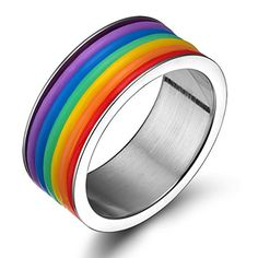 Rainbow Magnetic Clasp Bracelet Black PU Leather Gift for Gay Pride Decor