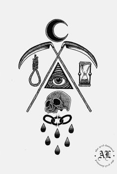 old school tattoos Tattoo Sketches, Tattoo Drawings, Body Art Tattoos, Sleeve Tattoos, Torso Tattoos, Tatoos, Bruder Tattoo, Occult Tattoo, Tatuaje Old School