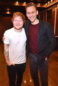 Tom Hiddleston & Ed Sheeran from The Big Picture: Today's Hot Photos
