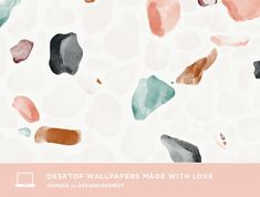 Today we are featuring 7 beautiful designs from ohmeed. i love the calming watercolor terrazo and that rainbow is simple and sweet. which is your fave? Wallpaper Iphone Liebe, Wallpaper Für Desktop, Macbook Wallpaper, Trendy Wallpaper, Pretty Wallpapers, Wallpaper Backgrounds, Beautiful Wallpaper, Wallpaper Quotes, Plain Wallpaper