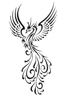 black pheonix tattoo designs