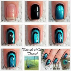 Peacock Nail Design - Tutorial by @Beauty by Suzi