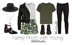 """""""Family Photo with Yoongi"""" by btsoutfits ❤ liked on Polyvore featuring Mother of Pearl, River Island, rag & bone, Jeffrey Campbell, Calvin Klein Collection, Orelia, Dsquared2 and Balenciaga"""
