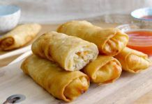WW Baked Spring Rolls - Dish and Recipe - WW Baked Spring Rolls, a recipe for tasty light spring rolls, very easy and quick to make for a lig - Best Chicken Recipes, Ww Recipes, Pizza Recipes, Healthy Dinner Recipes, Cooking Recipes, Cake Recipes, One Person Meals, Meals For One, Baked Spring Rolls